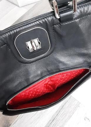 Фирменная кожаная сумка longchamp2 фото