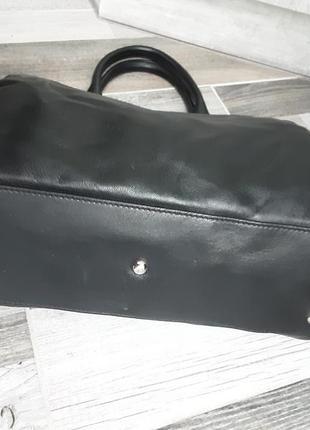 Фирменная кожаная сумка longchamp3 фото
