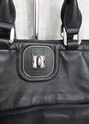 Фирменная кожаная сумка longchamp4 фото