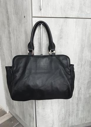 Фирменная кожаная сумка longchamp6 фото