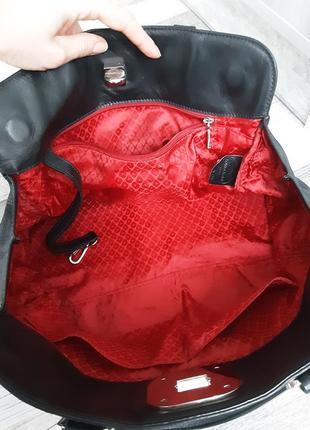 Фирменная кожаная сумка longchamp5 фото
