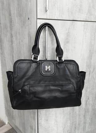 Фирменная кожаная сумка longchamp8 фото