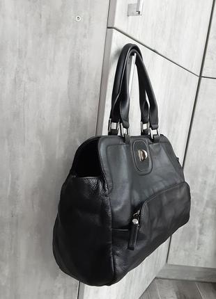 Фирменная кожаная сумка longchamp7 фото