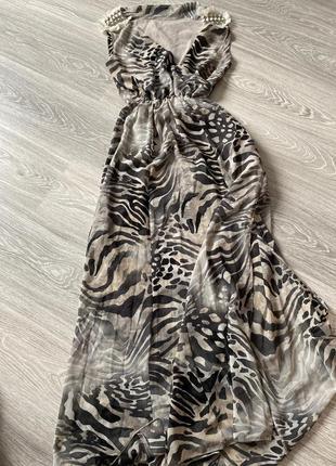 Шифорновое платье в пол