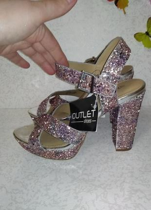 Нарядные босоножки в блесках head over heels (хед овер хилс) 40р2 фото