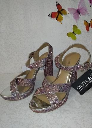Нарядные босоножки в блесках head over heels (хед овер хилс) 40р4 фото