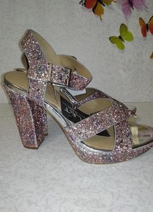 Нарядные босоножки в блесках head over heels (хед овер хилс) 40р7 фото