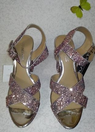 Нарядные босоножки в блесках head over heels (хед овер хилс) 40р8 фото