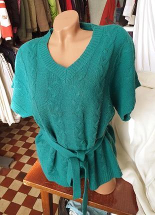 Пуловер с поясом.(1091)