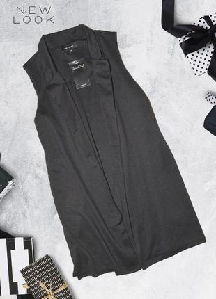 Пиджак без рукавов с разрезами снизу по бокам new look