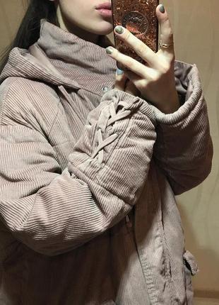 Тёплая дутая куртка