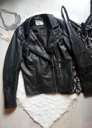 Черная короткая деми куртка кожанка косуха с карманами батал большой размер эко