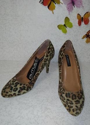 Туфли асимметрия леопард pearlz (перлз) 37р.
