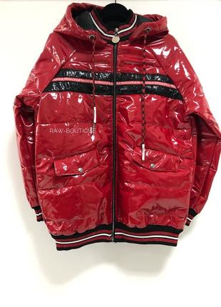 Лаковая куртка raw турция🇹🇷