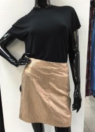 Красивая эффектная юбка  из натуральной кожи & other stories1