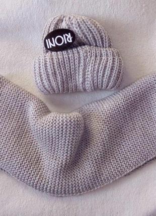 Комплект, шапка, хомут, шарф