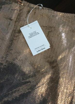 Красивая эффектная юбка  из натуральной кожи & other stories3