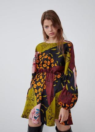 Новое яркое платье zara