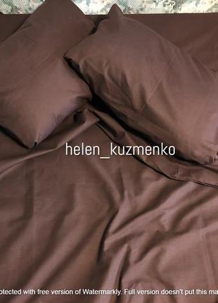 Однотонный коричневый комплект постельного белья