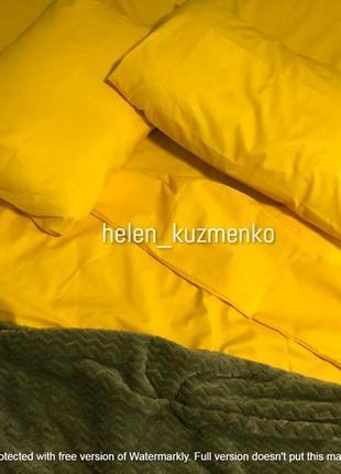 Однотонный желтый комплект постельного белья