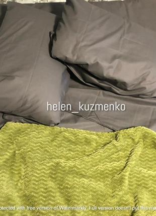Однотонный серый комплект постельного белья