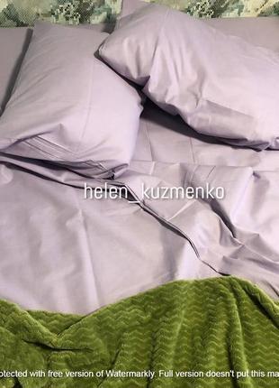 Однотонный лиловый комплект постельного белья
