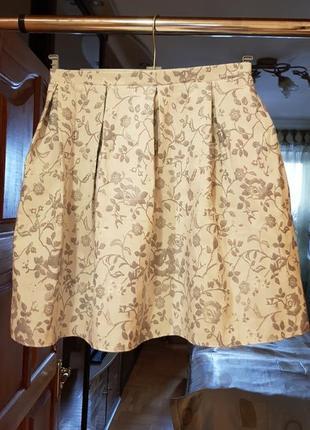 Летняя юбка с высокой талией