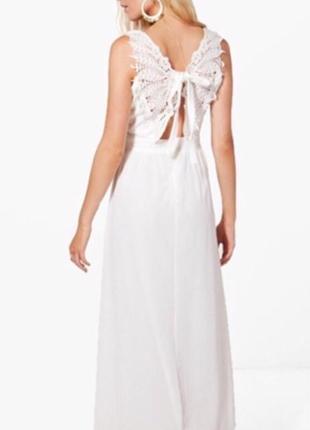 Платье макси с кружевной спинкой boohoo