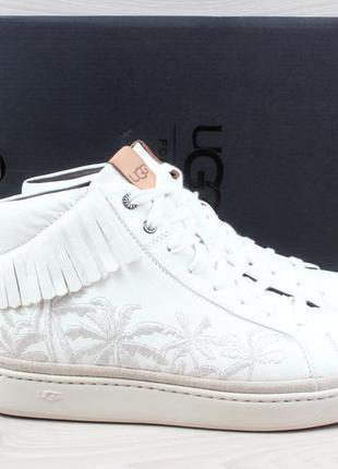 Белые кожаные сникерсы / кеды ugg оригинал, размеры 40, 41