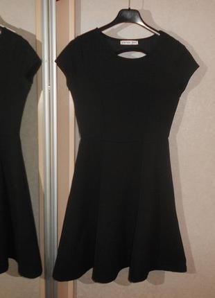 Waikiki универсальное черное платье с вырезом на спинке, на 12-14 лет