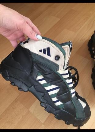 Кожаные термо сапоги ботинки adidas