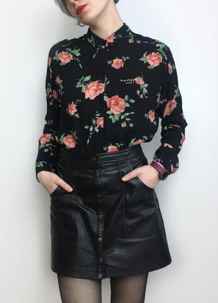 Рубашка в цветочный принт monki