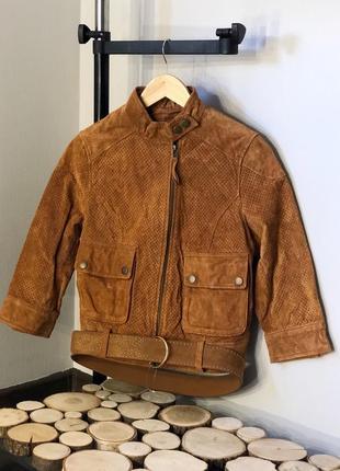 Натуральная замшевая косуха кожанка куртка в винтажном стиле