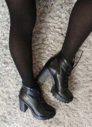 Шикарні черевички boots від andre нат.шкіра р.39.8 фото