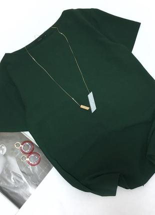Красивая зелёная блуза cos