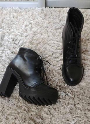 Шикарні черевички boots від andre нат.шкіра р.38.