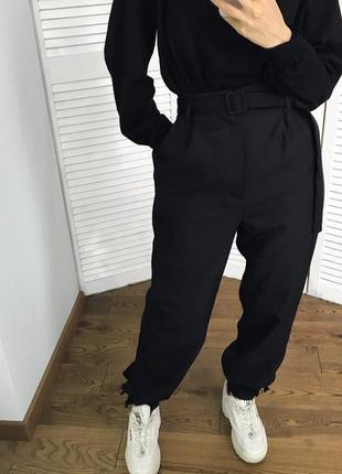 Шикарні високі шерстяні брюки з поясом в комплекті! на дюймовочку!