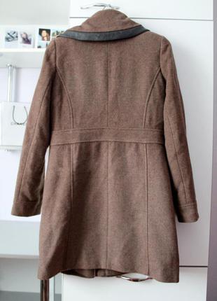 Коричневое шерстяное зимнее пальто от maddison3