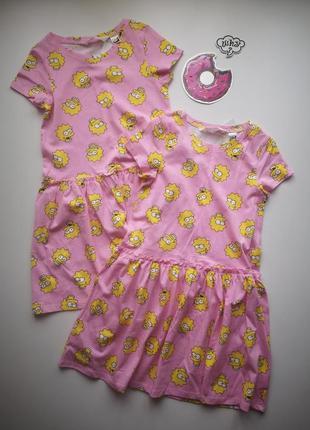 Платье котон, симсоны