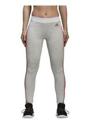 Легинсы  adidas ladies leggings cw3545 ess 3s tight girls pink grey