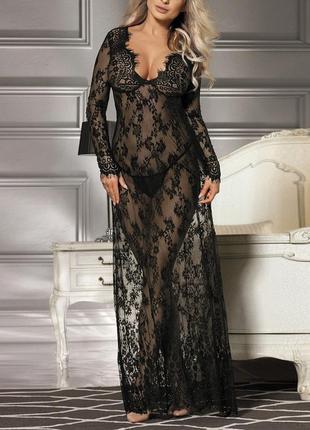 51 кружевное платье / прозрачный пеньюар / парео /сексуальное белье/ эротическое белье
