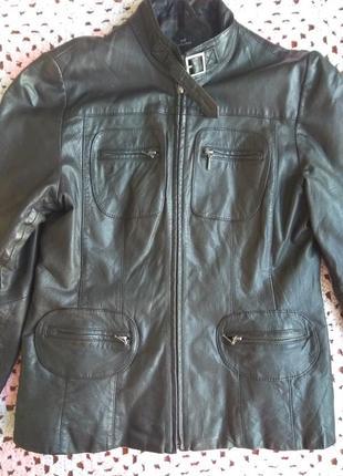 Кожаный пиджак f&f