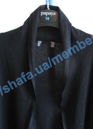 Базовый черный кардиган-накидка из вискозы tcm tchibo6 фото