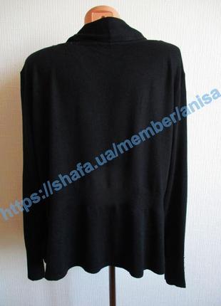 Базовый черный кардиган-накидка из вискозы tcm tchibo8 фото