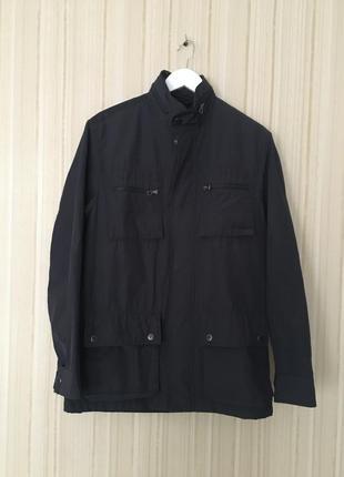 Мужская куртка темно синяя ветровка