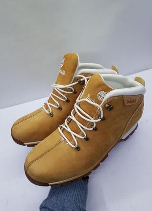 Мужские кожаные зимние тёплые ботинки timberland