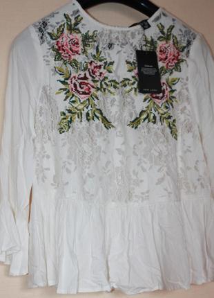Блузка-вишиванка new look,размер 8.