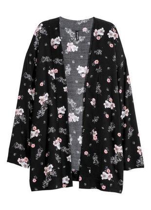 Кимоно накидка блейзер от h&m цветочный принт