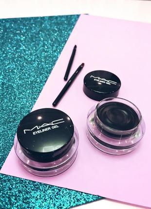 Набор гелевых подводок для глаз и бровей mac gel eyeliner 2 in 1