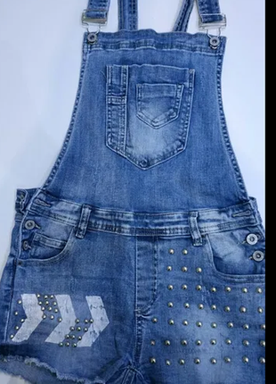 Классный джинсовый комбенизон2 фото
